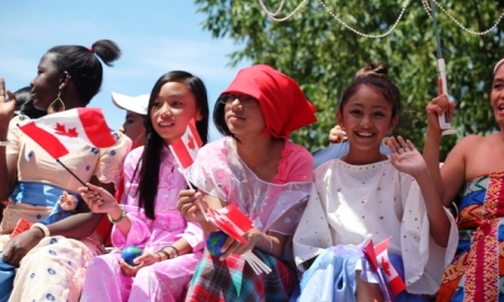 Multicultural youth on float.jpg